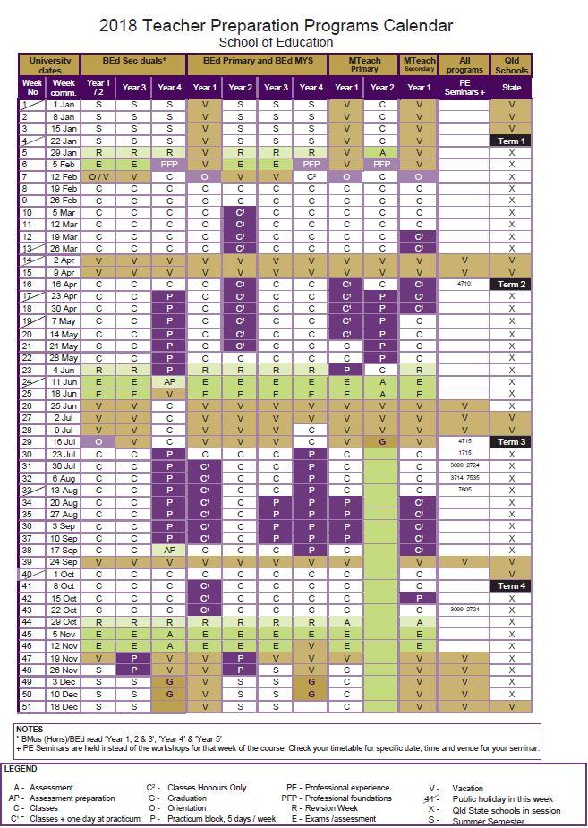 academic calendar 2018 2018